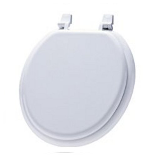 Miraculous Details About White Wooden Round Rim Toilet Seat With Lid Caraccident5 Cool Chair Designs And Ideas Caraccident5Info
