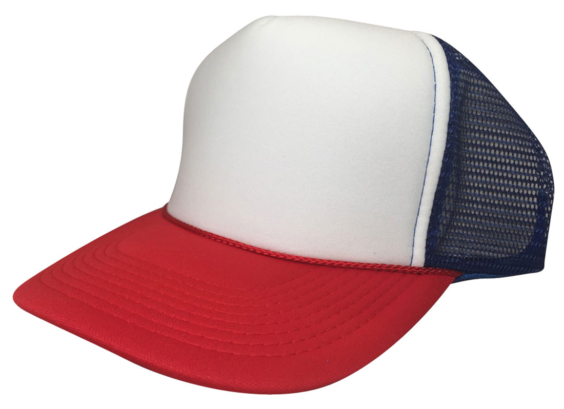 Red White   Blue HAT Dustin retro Trucker Cap 80s ADJUSTABLE ... e6f2b908fc48