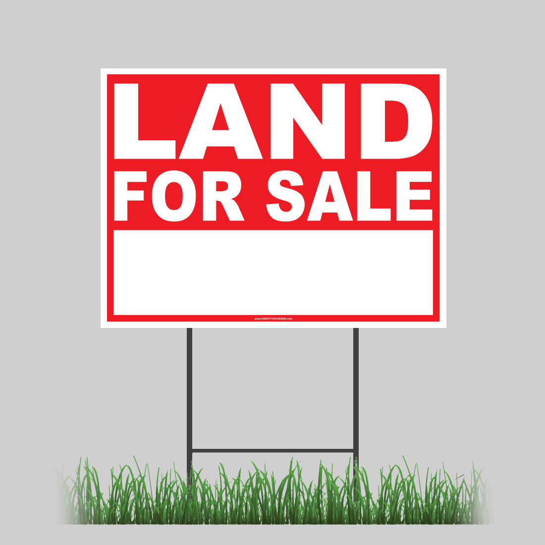 Details about large outdoor 24x18 land for sale yard sign with ground stake