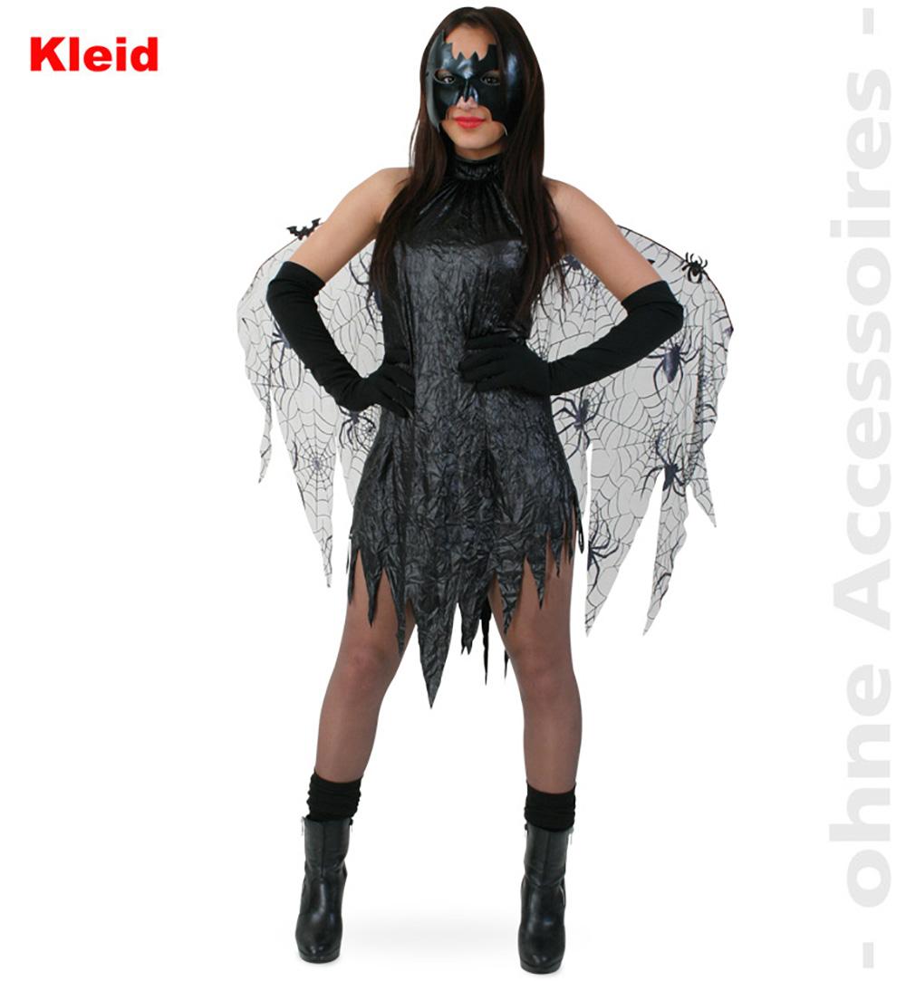 Vampirin Vamp Halloween Fledermauskleid Damenkostüm Teufelin Damen Kostüm