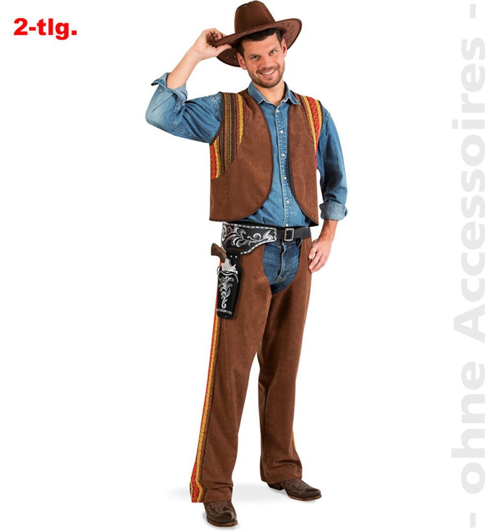 Costume uomo pistolero WESTERN Cowboy Carnevale Taglia L 50 52