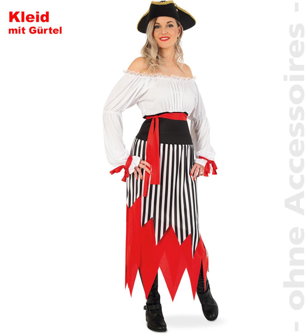 FANCY DRESS COSTUME # SWASHBUCKLER PIRATE LADY M 12-14