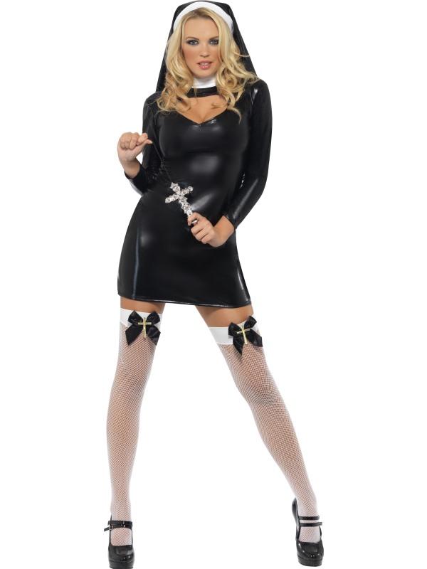 prezzo competitivo prezzo di strada vende Dettagli su Sexy Suora Costume Costume Suora