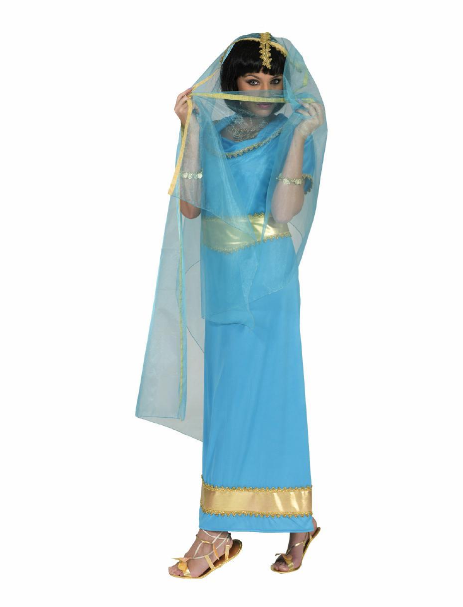 details zu inderin anandi kostüm damen tänzerin bollywood asien schleier  kleid blau gold
