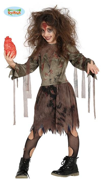 migliore vendita grande sconto prezzo imbattibile Dettagli su Horror Zombie Ragazza Costume per Bambini Terrificante Non  Morti Halloween