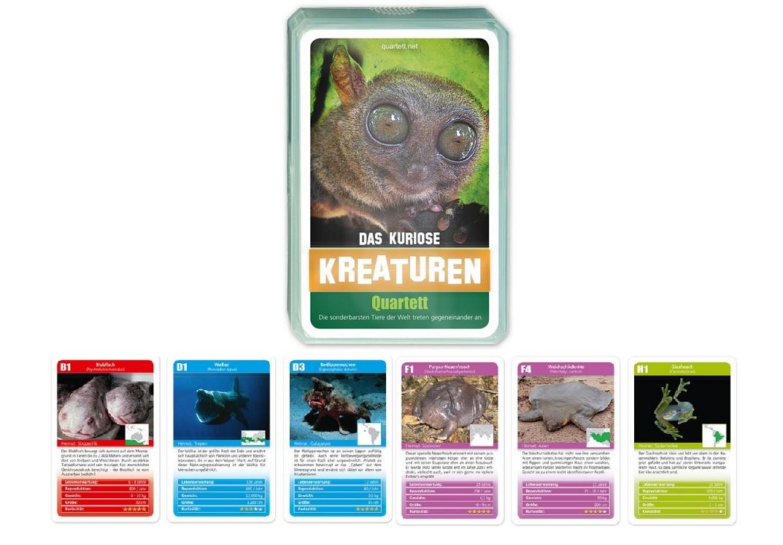 Curiosa criaturas cuarteto monstruo animales kreaturenquartett juego de cartas