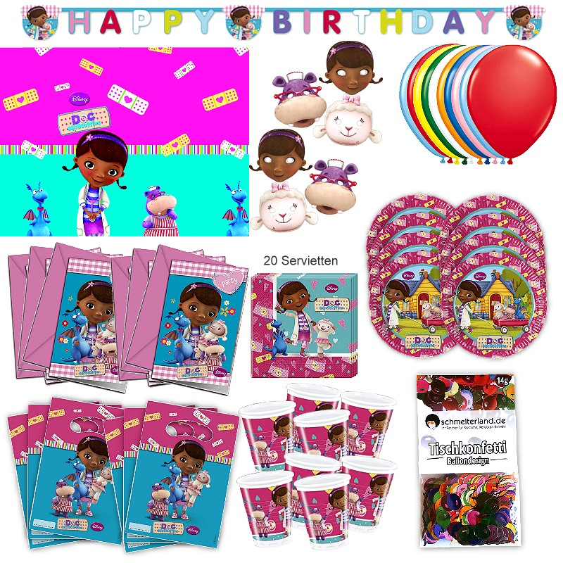 Minnie Maus Partypaket Disney 51-teilig Kinder Geburtstag Kinderparty