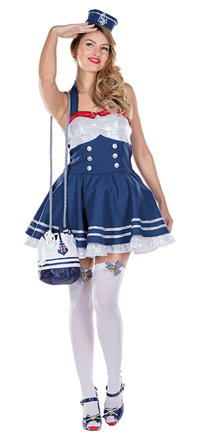 a01ba0376a La robe est ornée de moulures ornementales, boutons, rouge finition à  l'encolure et une ancre. Dont un anneau de poils, est attachée sur le  chapeau de marin ...