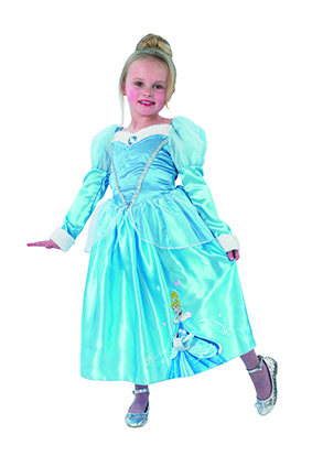 301cda4412ea On the rock a picture of Cinderella is printed. There are there a light  blue shoulder cape with white fur trim.
