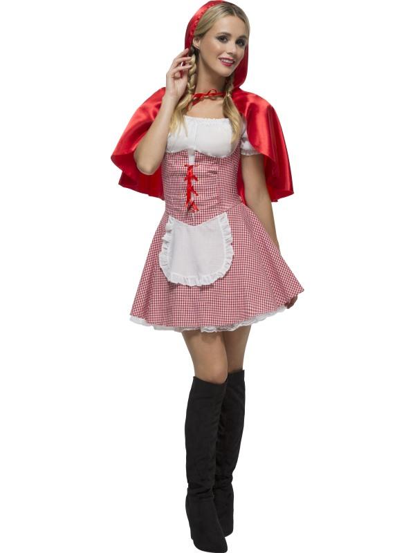 Details zu FEVER RED RIDING HOOD FANCY DRESS Rotkäppchen Kostüm Größe XS Damen Fasching