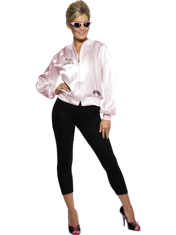 Details about Grease Costume Pink Lady Jacket Greasekostüm