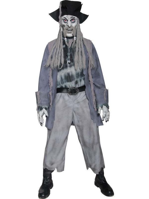 Ghost Dead Men Halloween Mens Fancy Dress Costume NEW Zombie Skeleton Pirate
