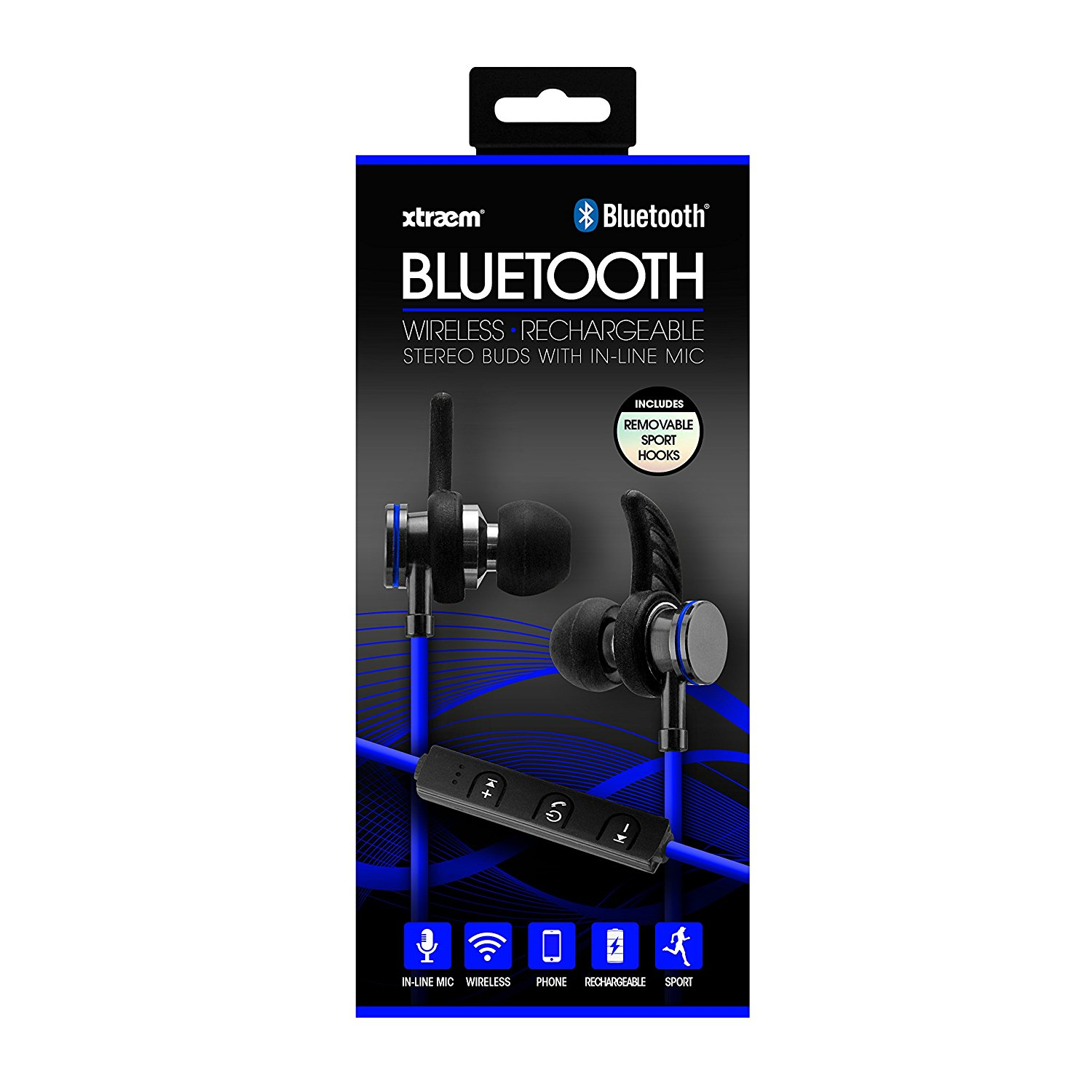 c52403e9567 Details about Sentry Bluetooth, Rechargeable, Metal Ear Buds with Built In  Microphone, BX250BL