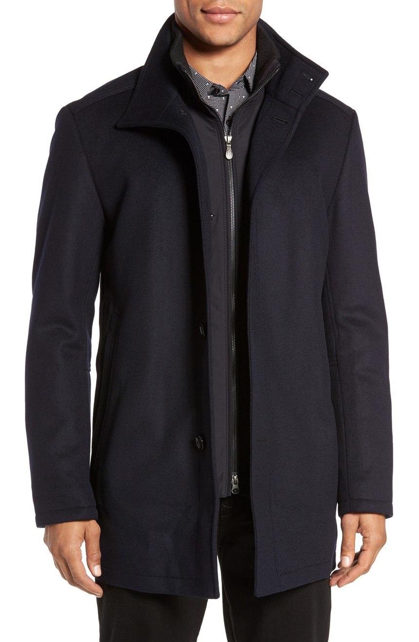Hugo Boss Men's C-coxtan 5 Wool - Cashmere Coat 42r Navy | eBay