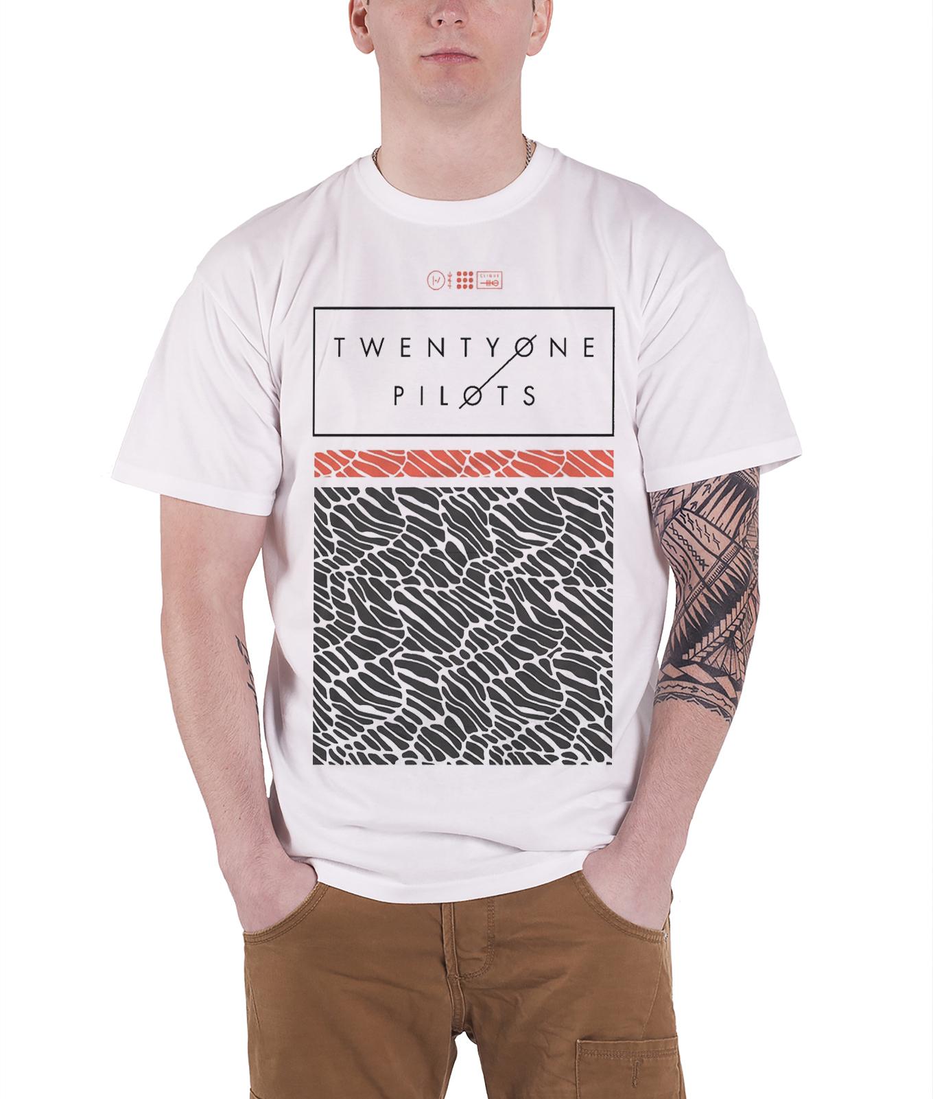 21 Twenty One Pilots T Shirt Scale Pattern Strip Band Logo Official