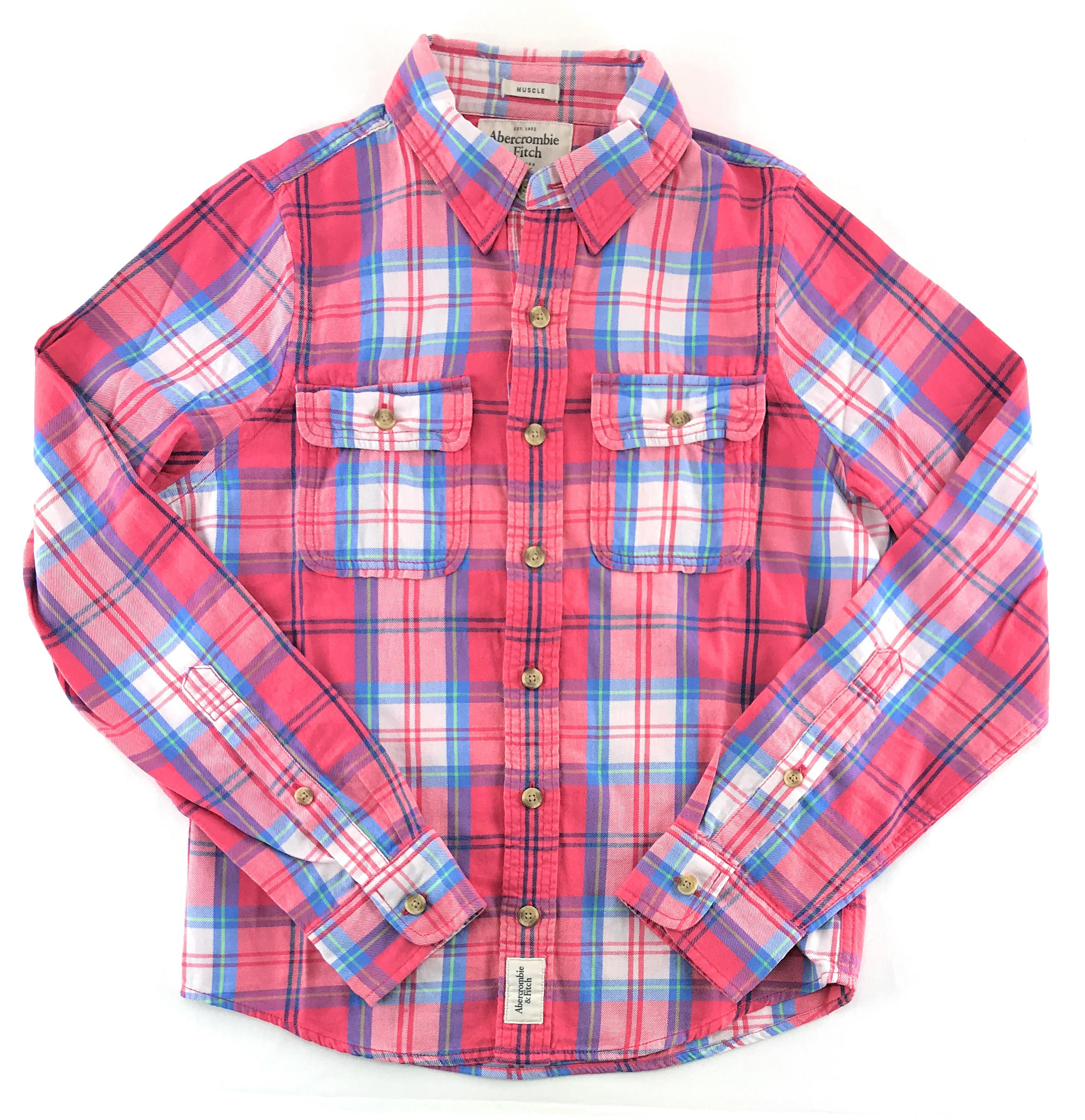 d975c940dd Red And Blue Plaid Flannel Shirt Mens