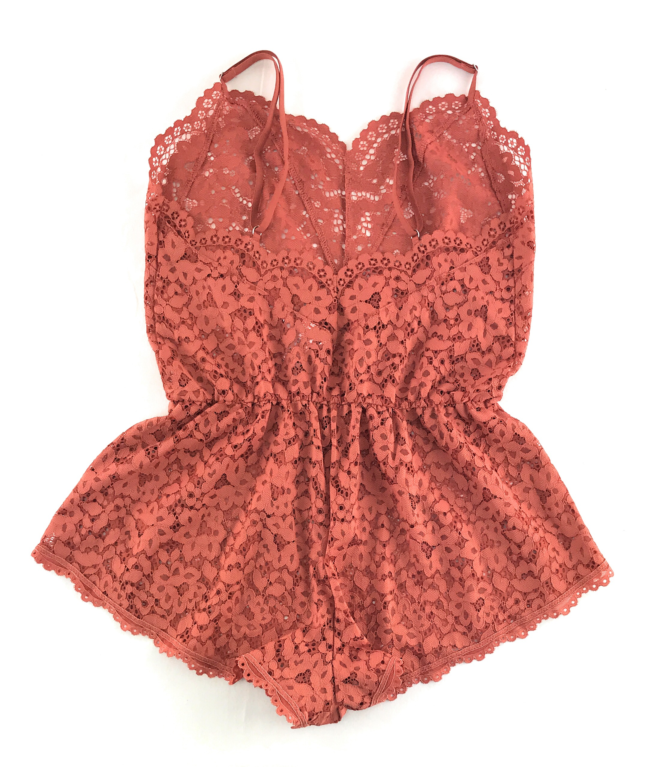 Body by Victoria Ensign Blue Lace Romper X-Small