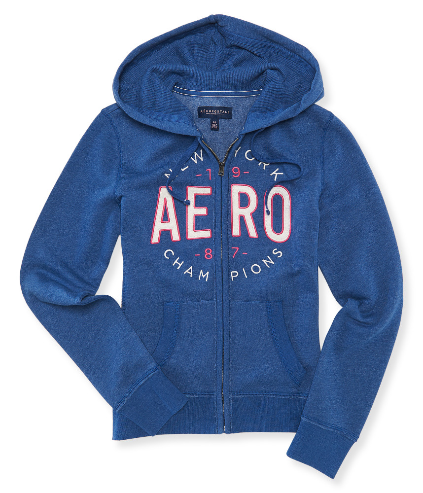 AEROPOSTALE WOMENS HOODIE FULL ZIP SWEATSHIRT JACKET AERO ...