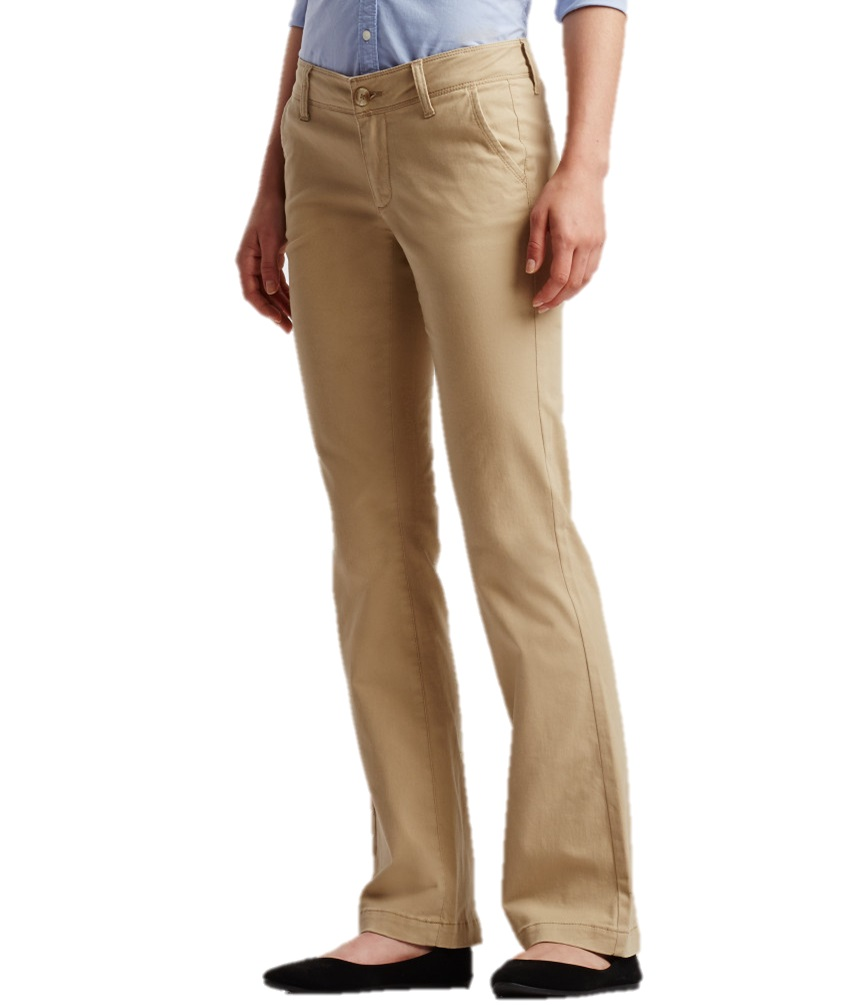 Aeropostale Womens Khaki Pants Chinos Curvy School Uniform Work 0 ...