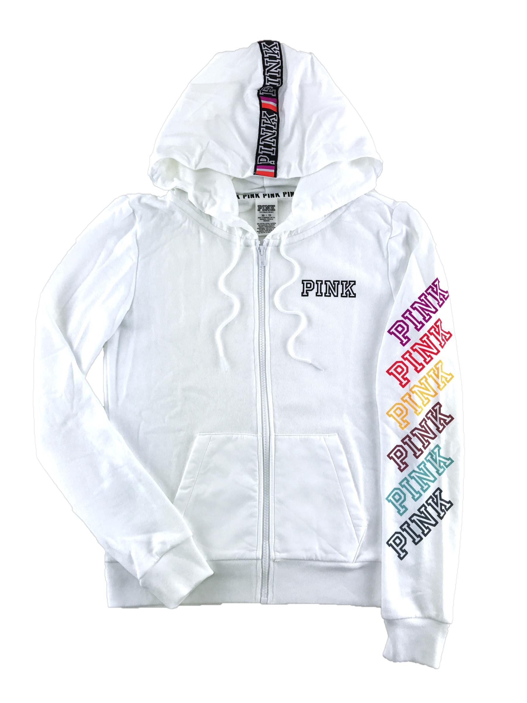 Victorias Secret Love Pink Hoodie Perfect Full Zip Hood -8794