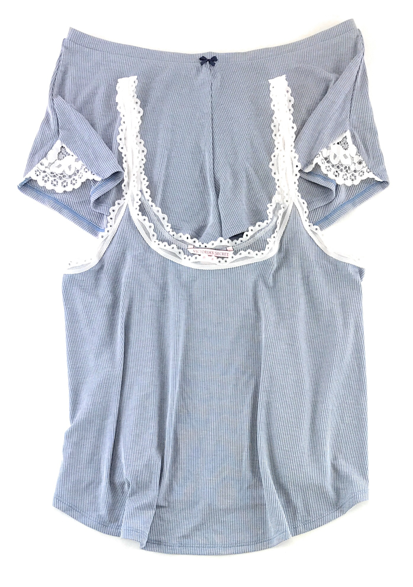 Victoria-039-s-Secret-Pajamas-Set-PJs-2-Piece-Ribbed-Sleep-Cami-Tank-and-Shorts thumbnail 6