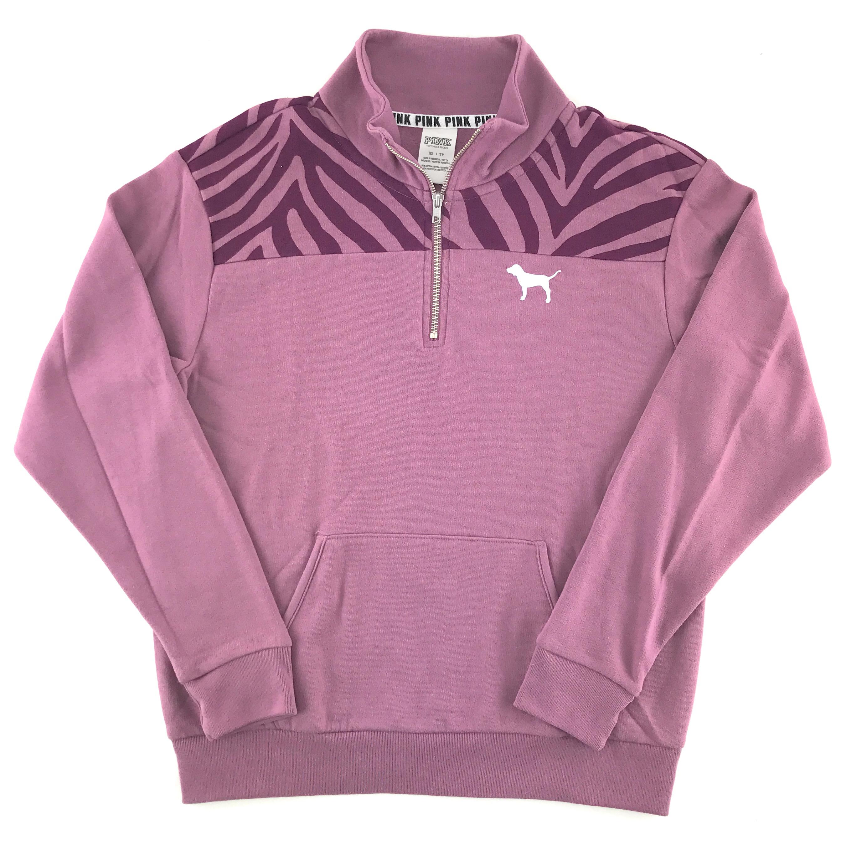 Secret a Felpa Pink di Victoria's zip cappuccio metà Felpa con 6AxwOFqU