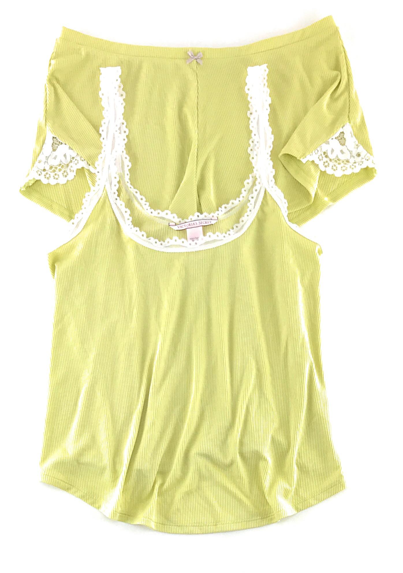 Victoria-039-s-Secret-Pajamas-Set-PJs-2-Piece-Ribbed-Sleep-Cami-Tank-and-Shorts thumbnail 8
