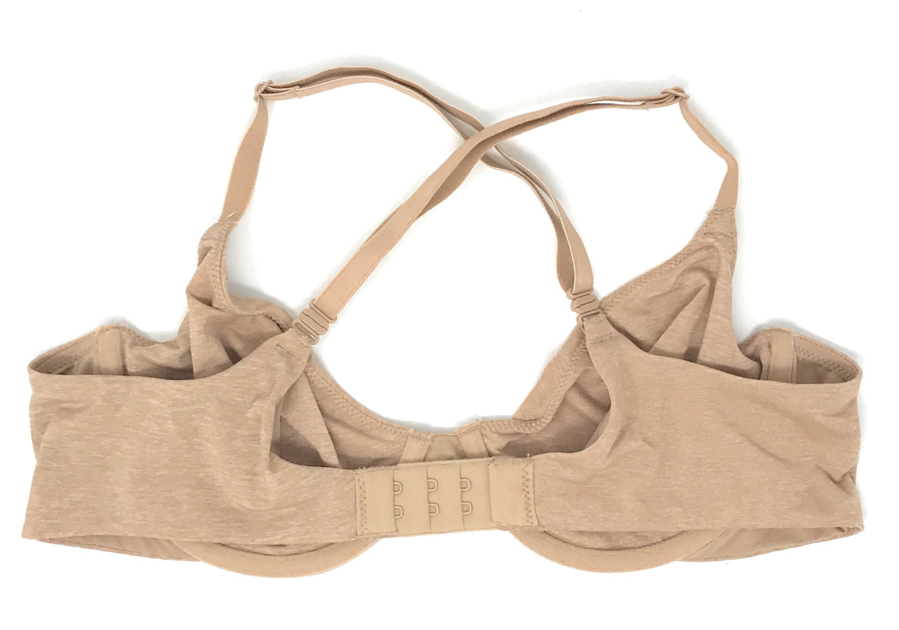 4d704b78368bd Details about VICTORIA'S SECRET T-SHIRT BRA UNLINED SEMI DEMI CROSSBACK  CLASSIC MARLED