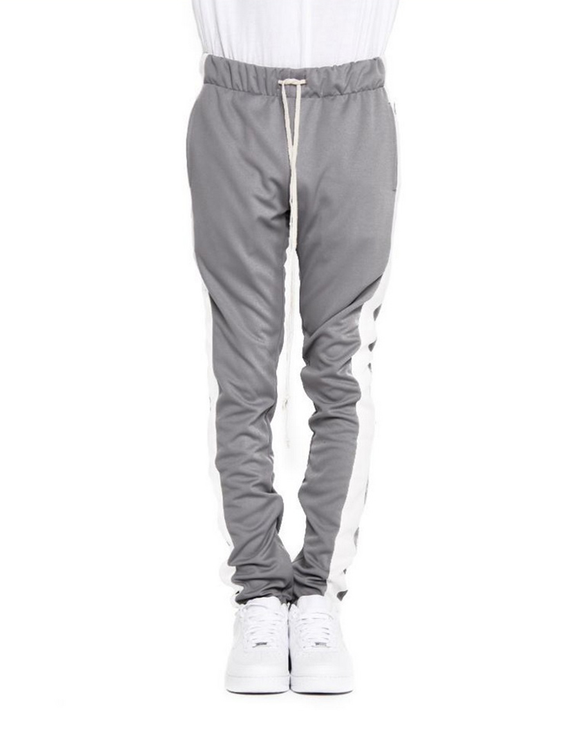 6642df16f EPTM. Men's Side Stripe Ankle Zip Long Drawstring Techno Track Pants ...