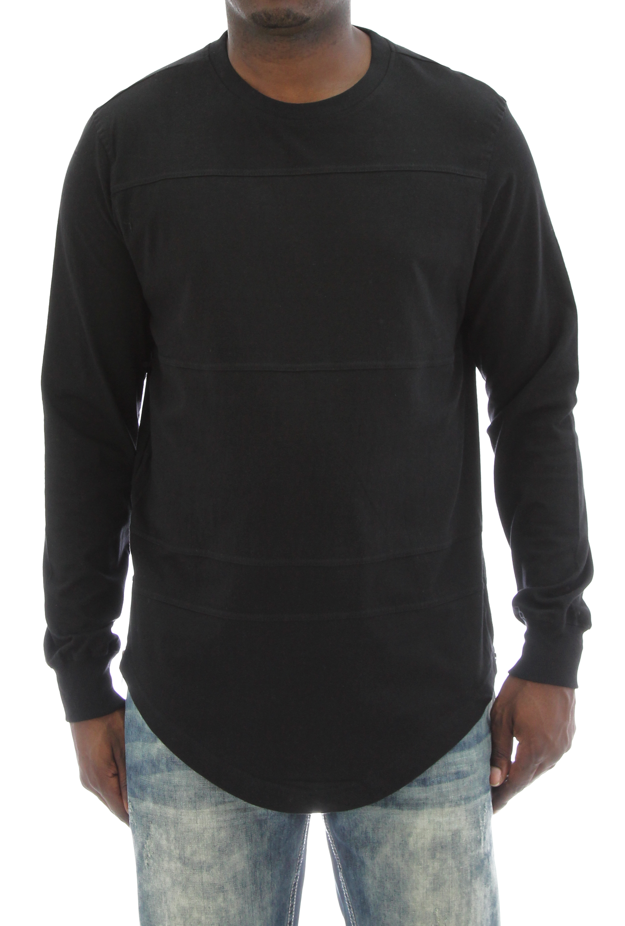 ecd2127e5 Akademiks Men's Olympic Longline Side Zippers Long Sleeve T Shirt   eBay