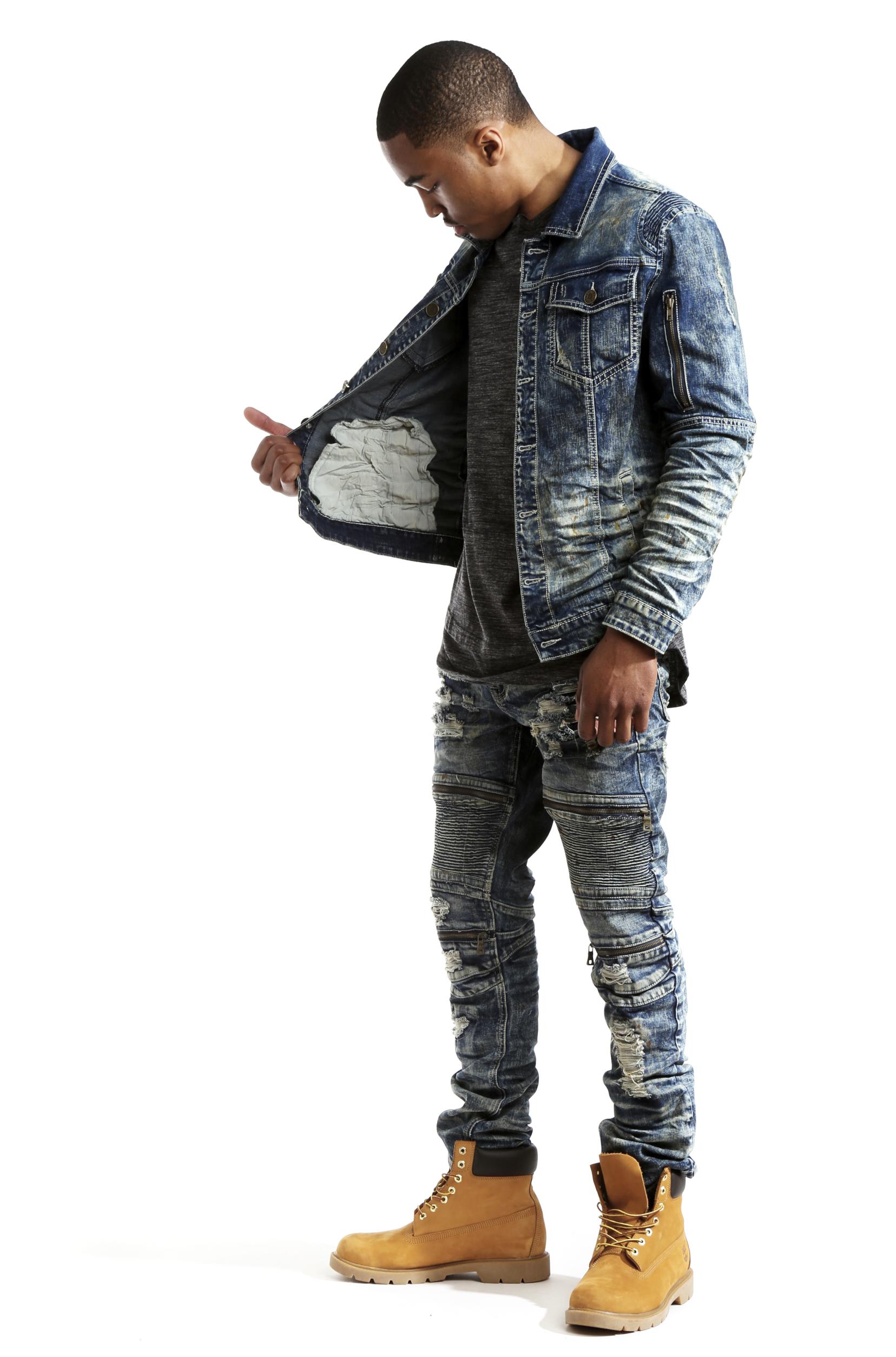 Black Distressed Jeans Mens