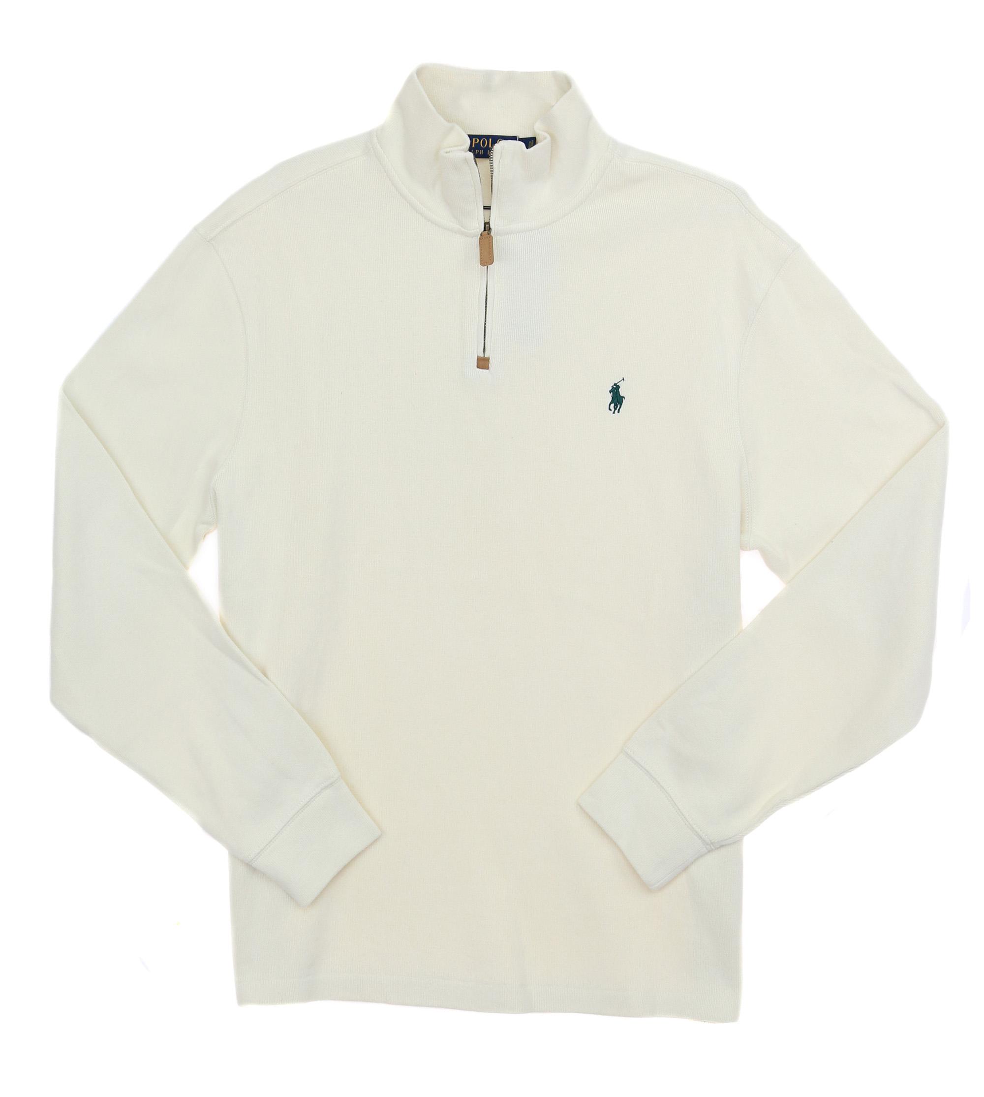 72d5fbda Details about Polo Ralph Lauren Men's French Rib Half Zip Pullover Mockneck  Sweater