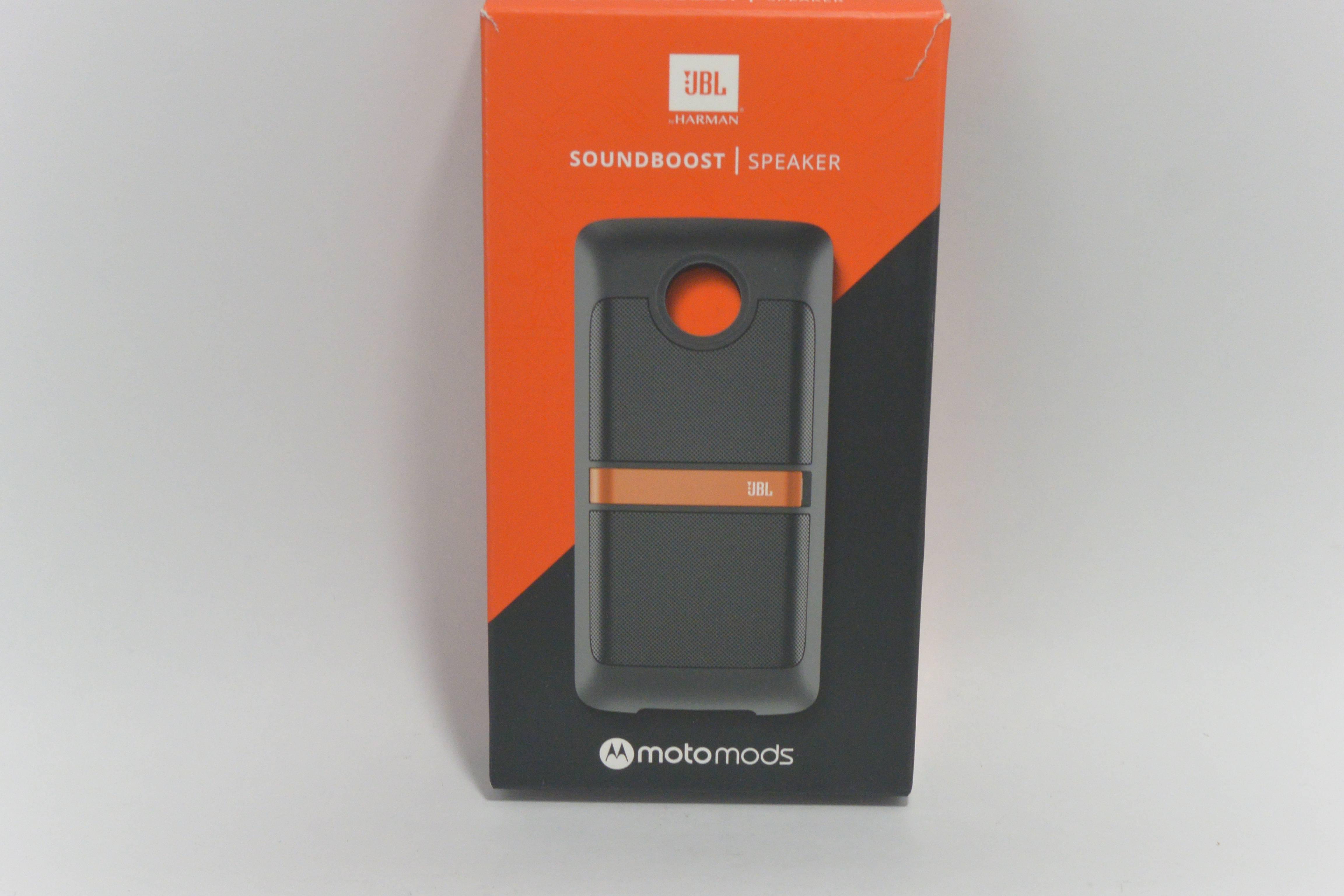 motorola jbl speaker. new oem jbl soundboost moto mods black speaker for motorola z/moto z force jbl c