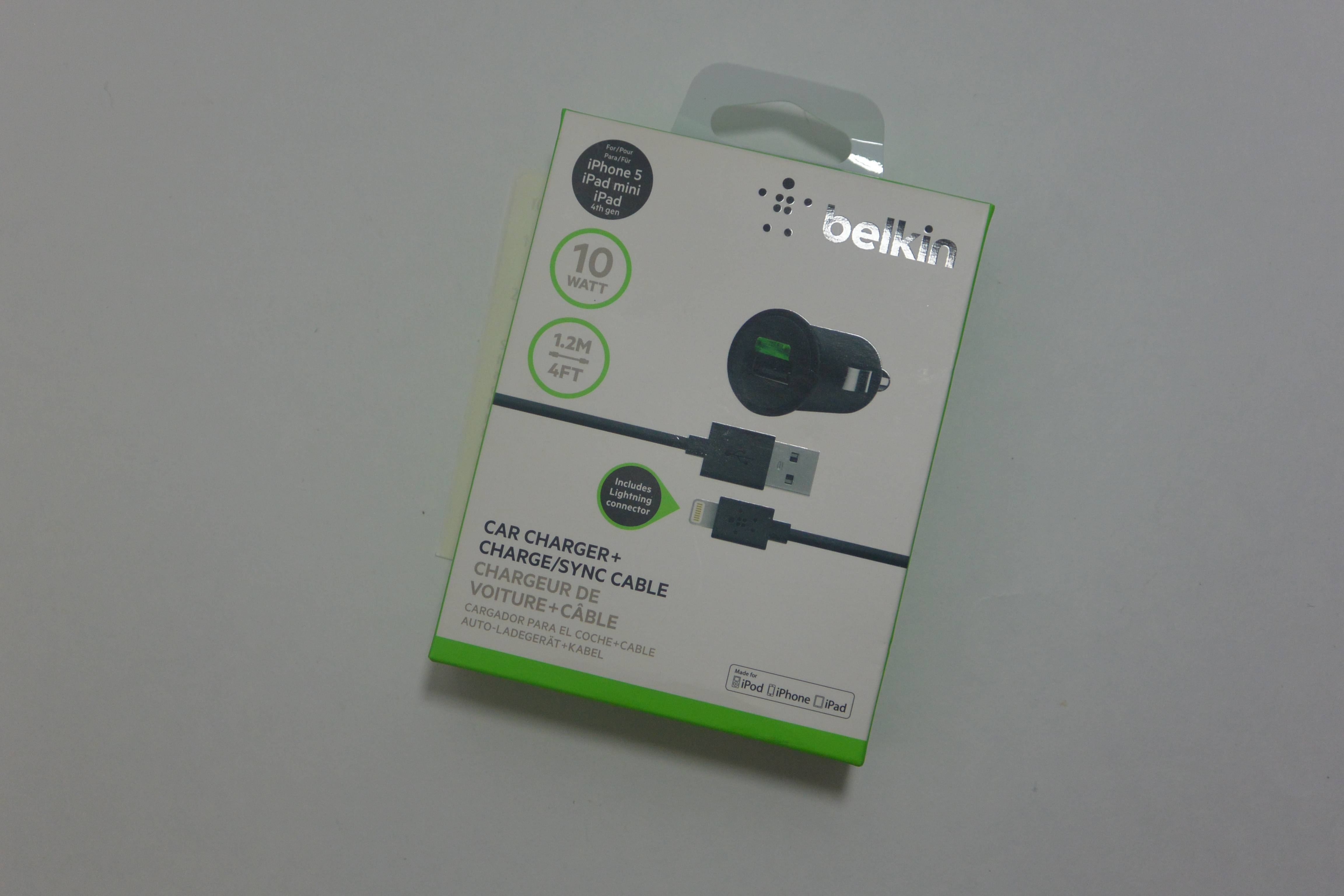New in Box OEM Belkin Black Car Charger with 4-Foot Lightning Cable ...
