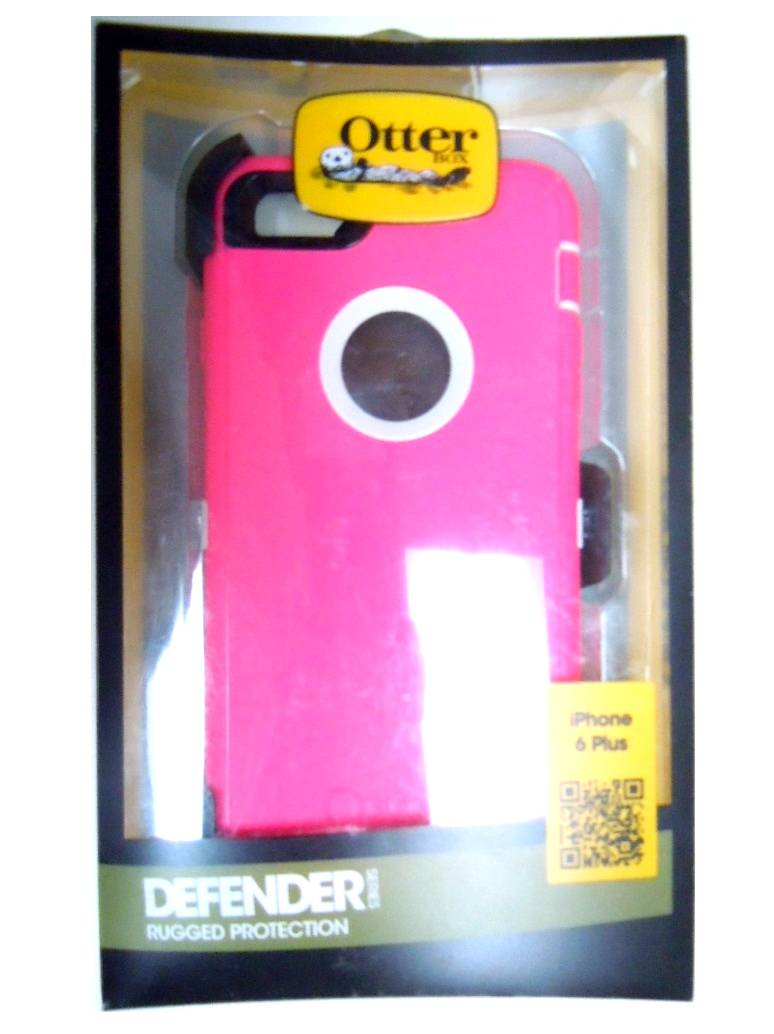 New Oem Otterbox Iphone 6 Plus Neon Rose Pink White Defender Case Series The Is Rugged Essential Smartphone Protection This Made Of A Clear Protective Membrane High Impact Polycarbonate Shell And
