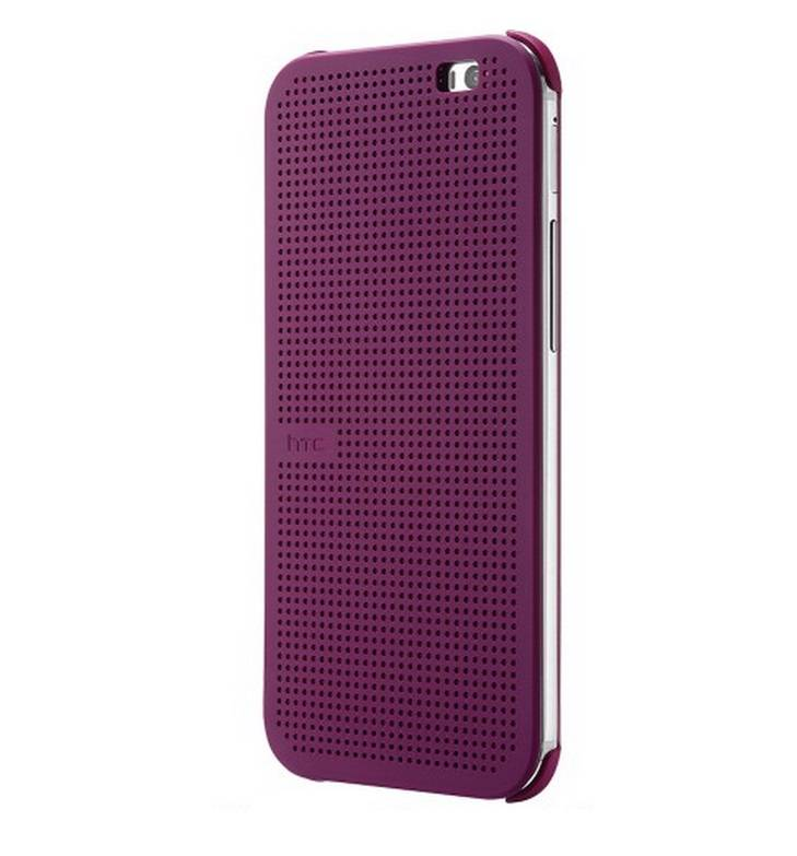 finest selection 91eea e8aaf Details about New Original HTC One M8 Dot View Baton Rouge Flip Cover Shell  Case