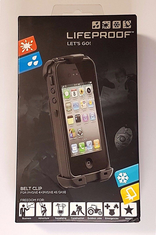 new style 6c3bd bd628 Details about LifeProof Belt Clip Holster For iPhone 4/4s Waterproof Case
