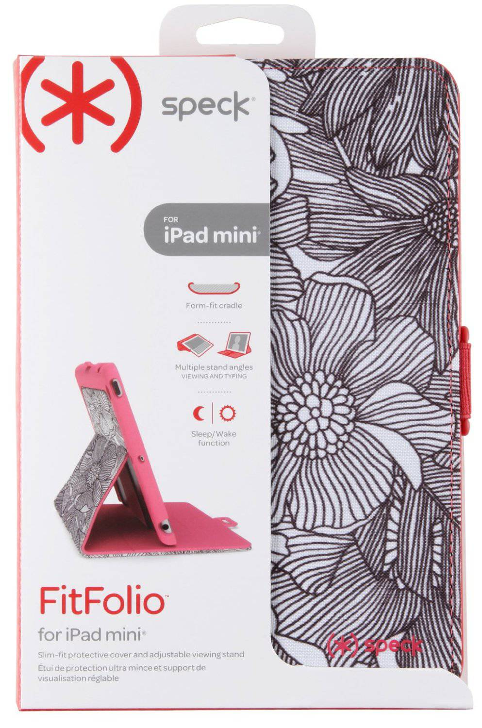 online store 179d2 e6726 Details about New OEM Speck FitFolio FreshBloom Coral Pink Case For iPad  Mini 1/2/3