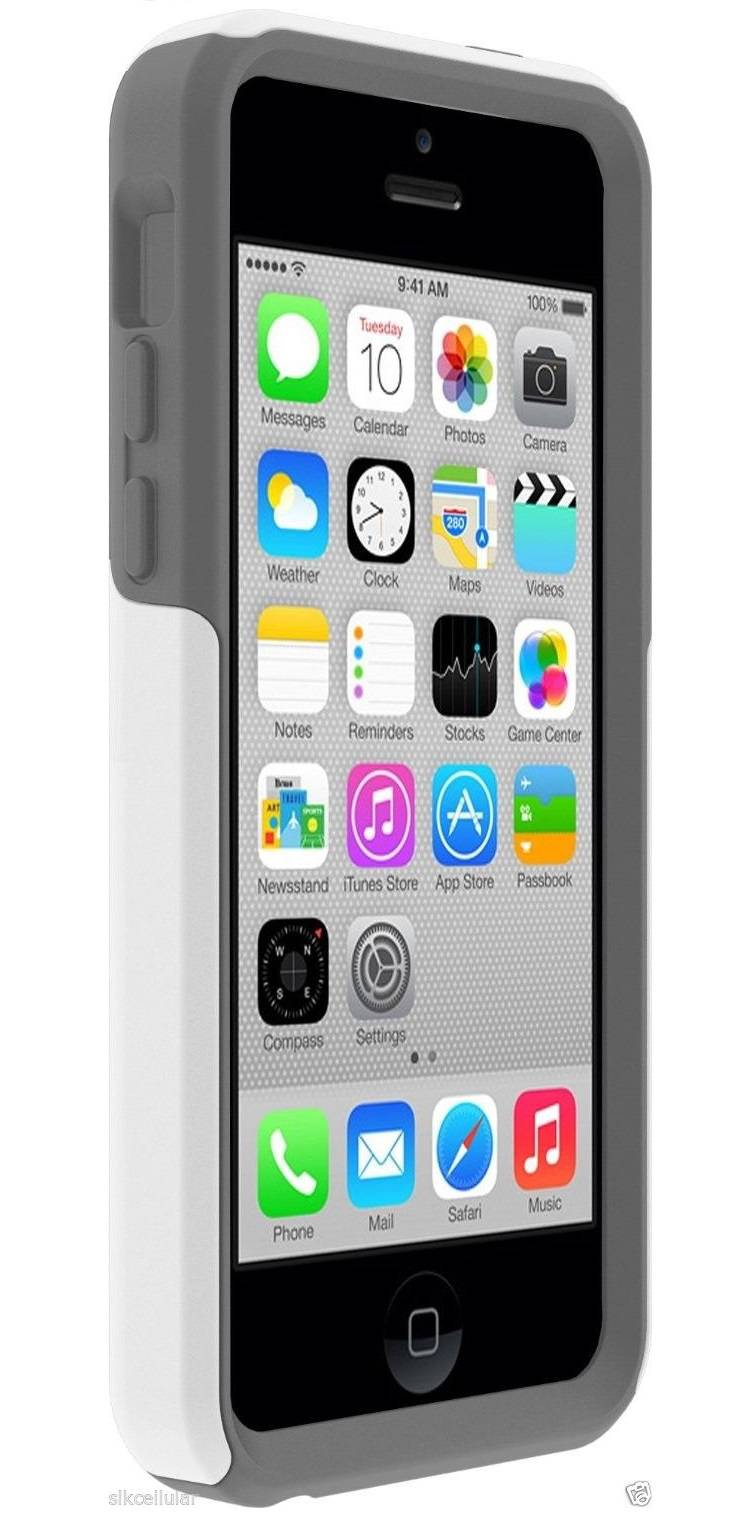 iphone 5c otterbox commuter new otterbox apple iphone 5c white gunmetal gray commuter 14685