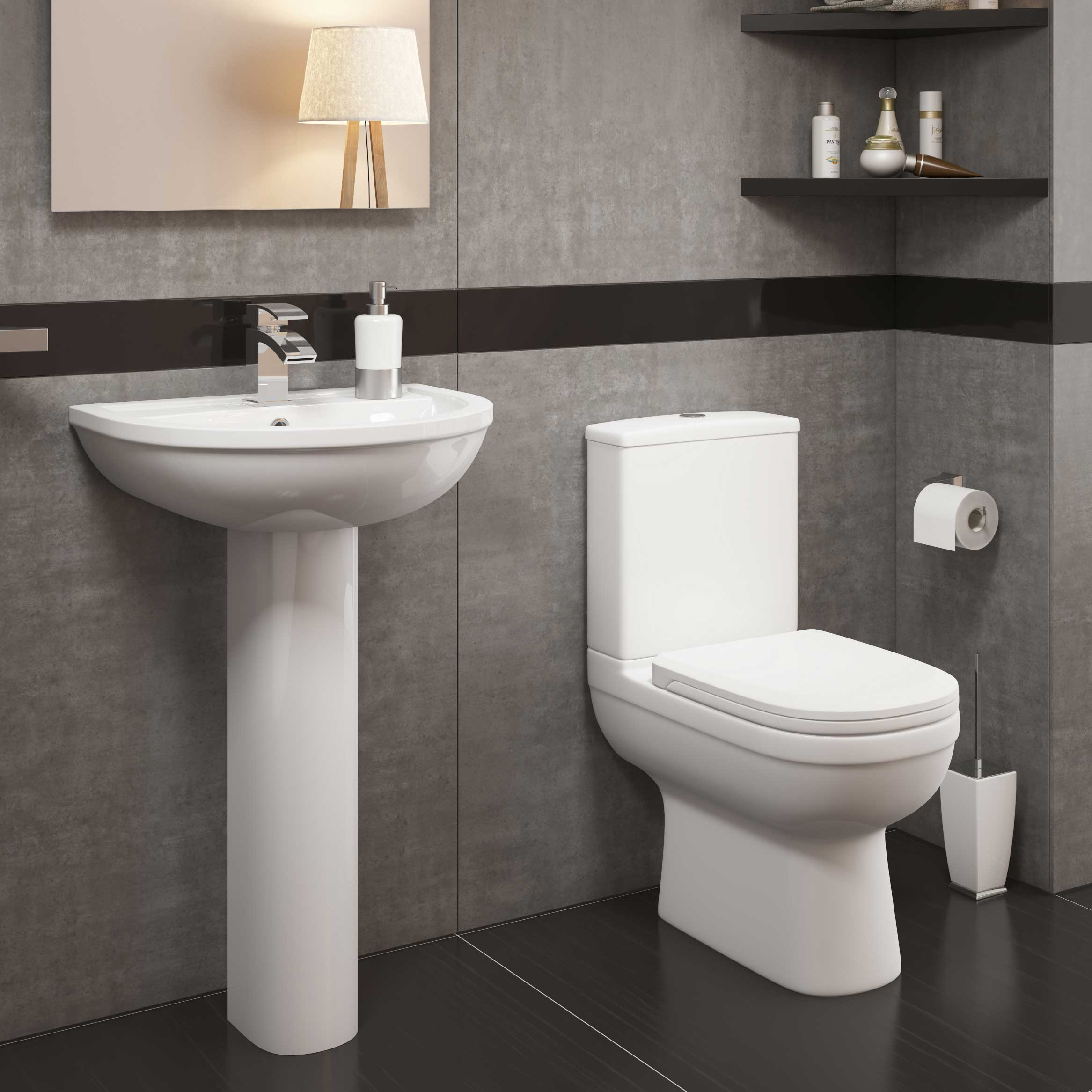 Modern Set Close Coupled Back To Wall Toilet Various Basin Sink