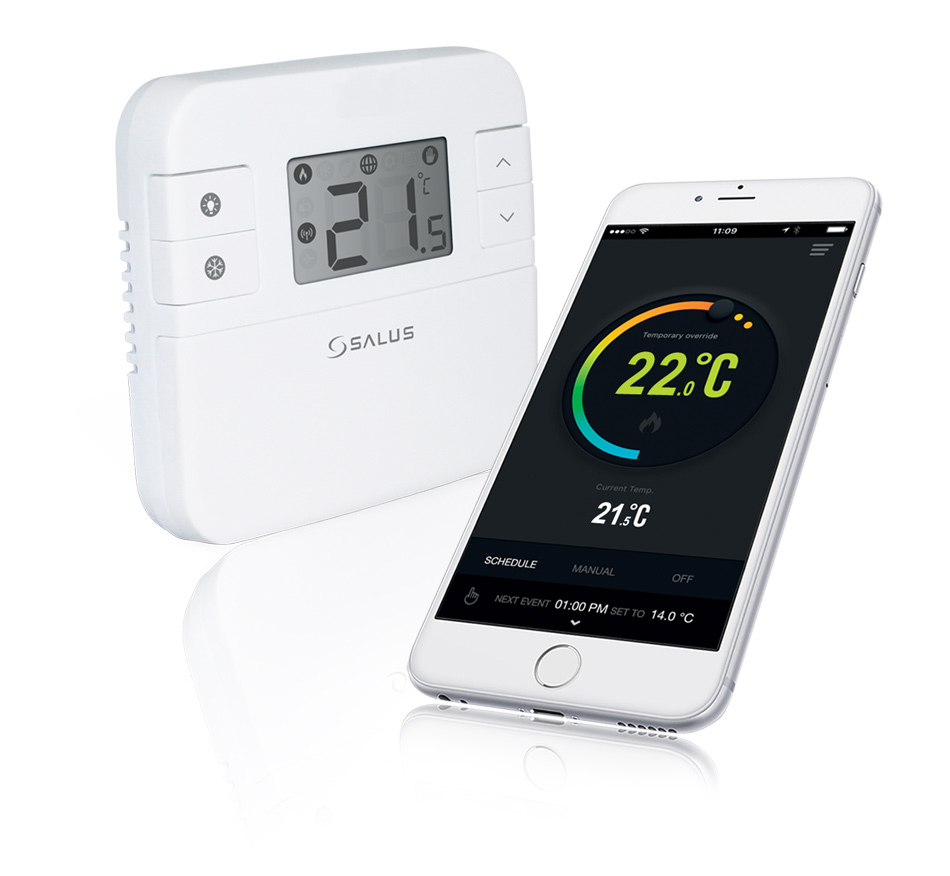 Salus Smart Thermostat and Smartphone
