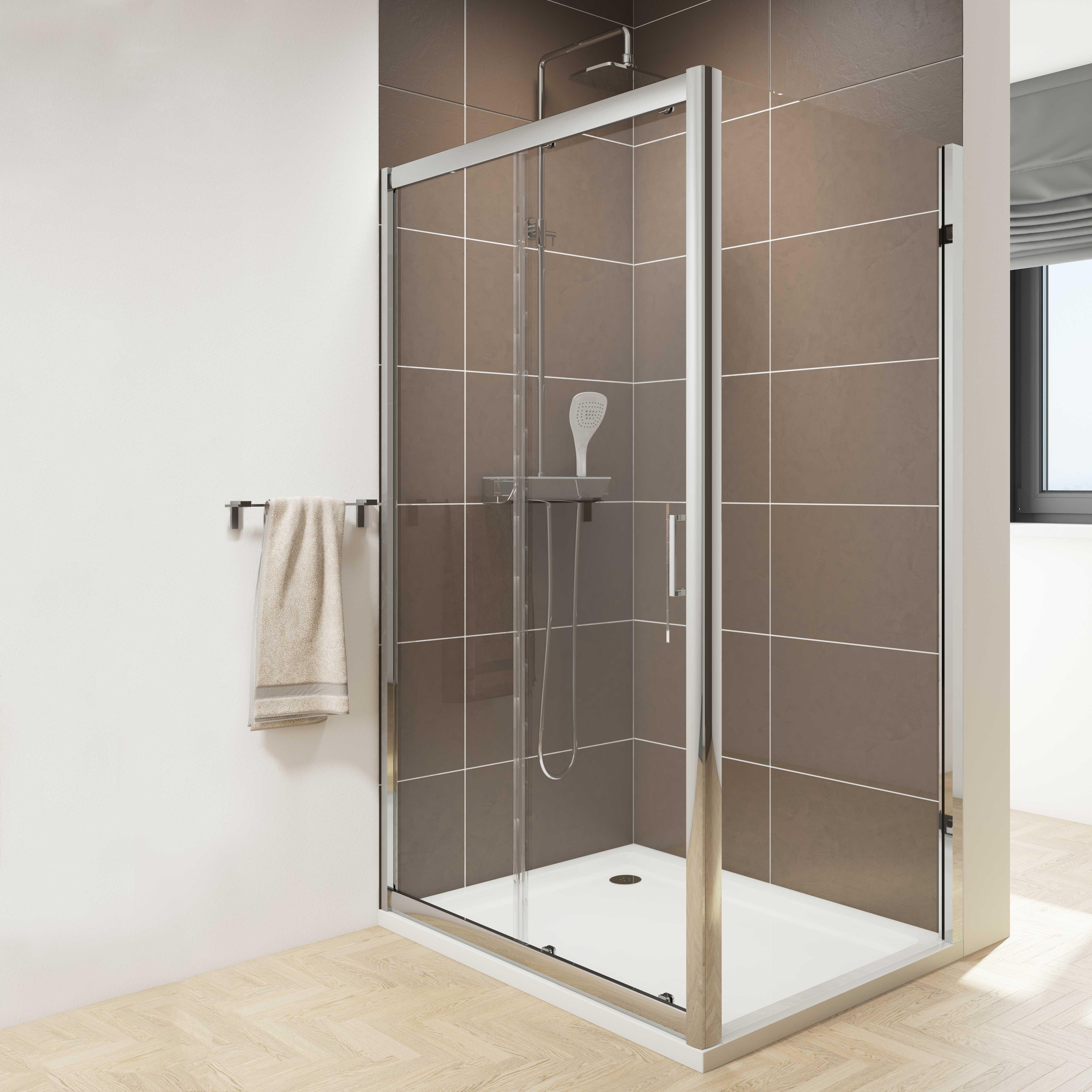 Cassellie Seis Sliding Door Shower Enclosure | eBay