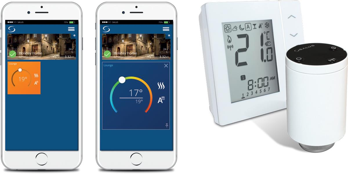 Smartphone App and Thermostat/Valve