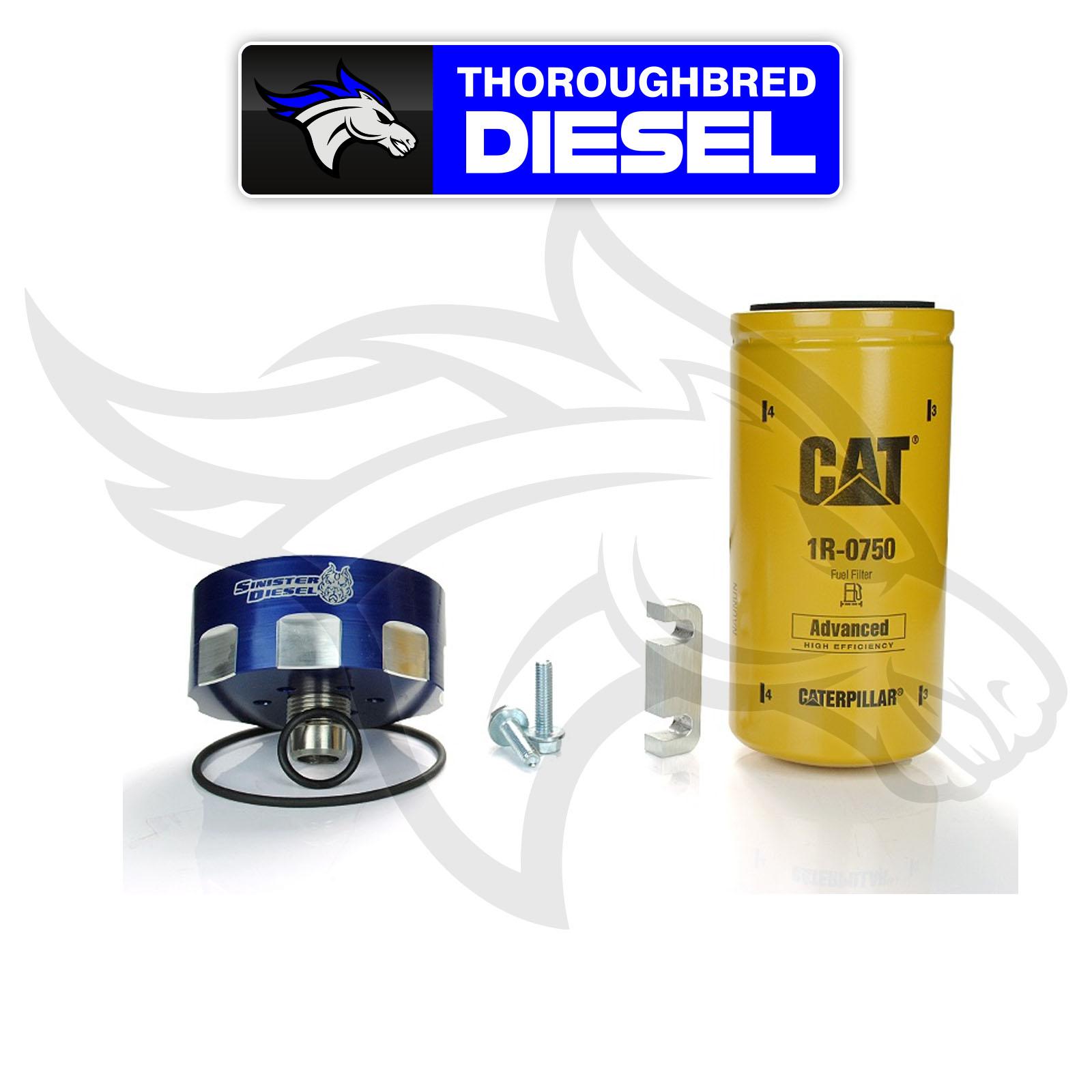 duramax cat fuel filter duramax fuel filter housing rebuild kit sinister diesel cat fuel filter adapter kit for 6.6l duramax sd-cat-dmax | ebay