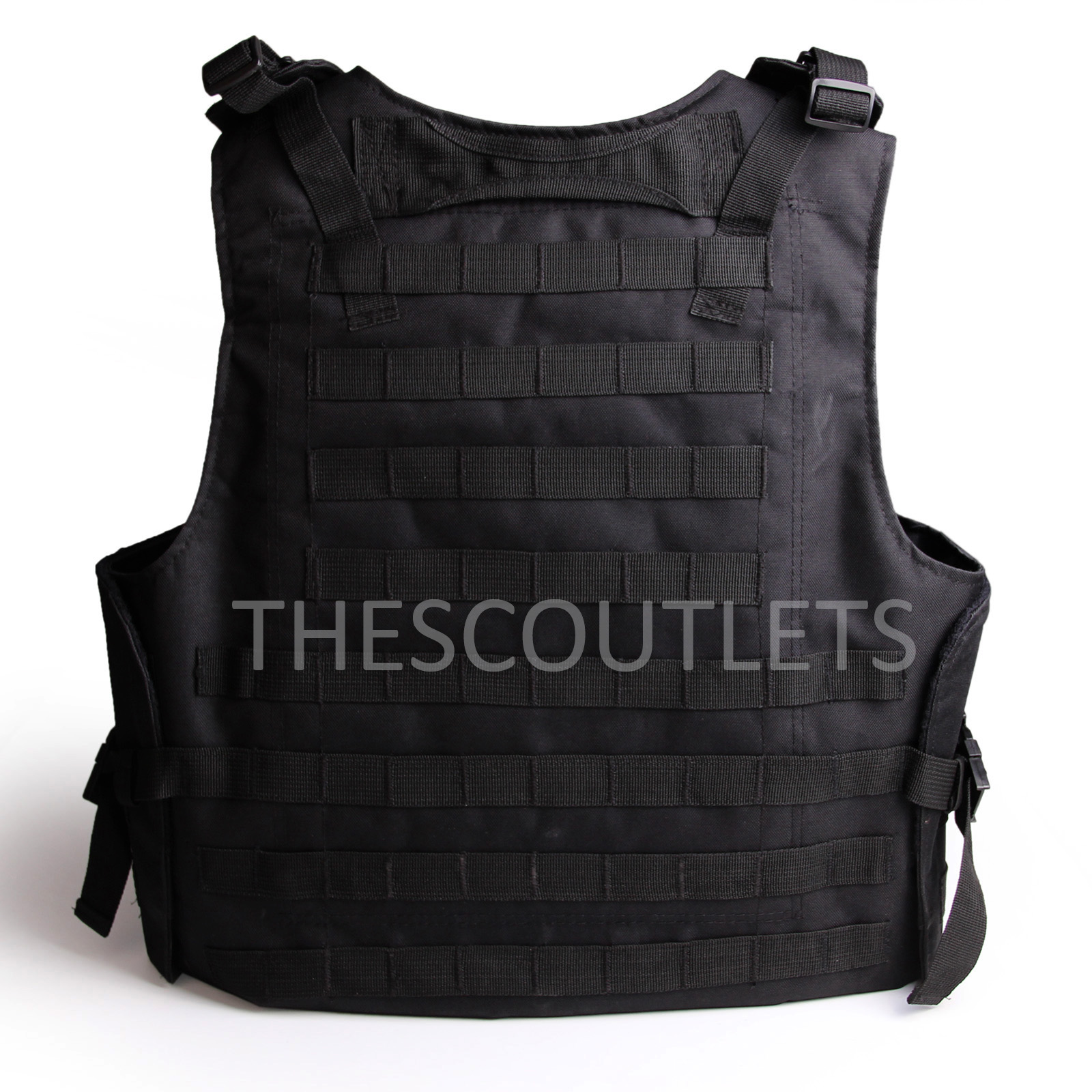 Military-Tactical-Paintball-Army-Molle-Carrier-Adjustable-Airsoft-Combat-Vest thumbnail 3
