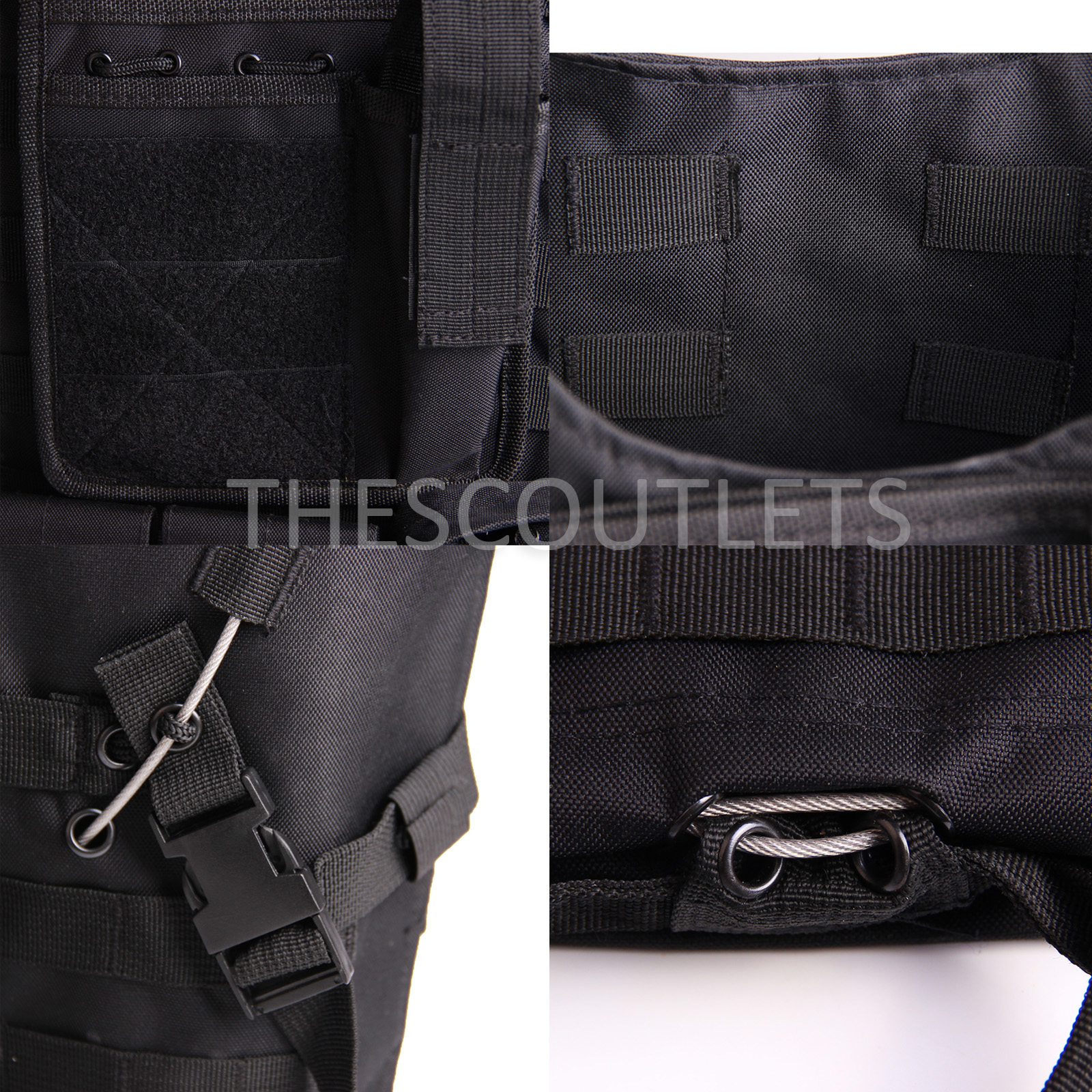 Military-Tactical-Paintball-Army-Molle-Carrier-Adjustable-Airsoft-Combat-Vest thumbnail 6