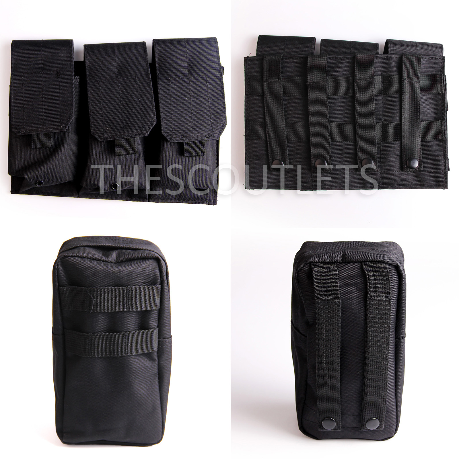 Military-Tactical-Paintball-Army-Molle-Carrier-Adjustable-Airsoft-Combat-Vest thumbnail 7