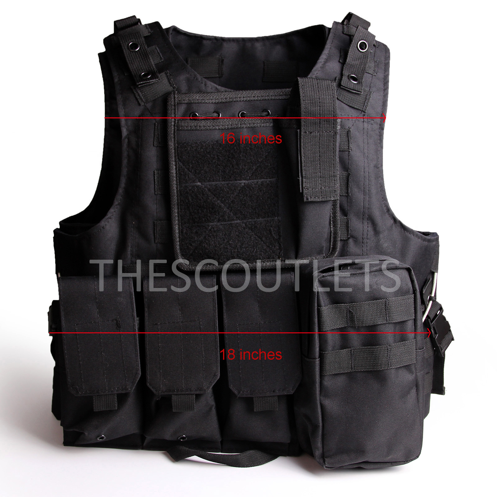 Military-Tactical-Paintball-Army-Molle-Carrier-Adjustable-Airsoft-Combat-Vest thumbnail 4