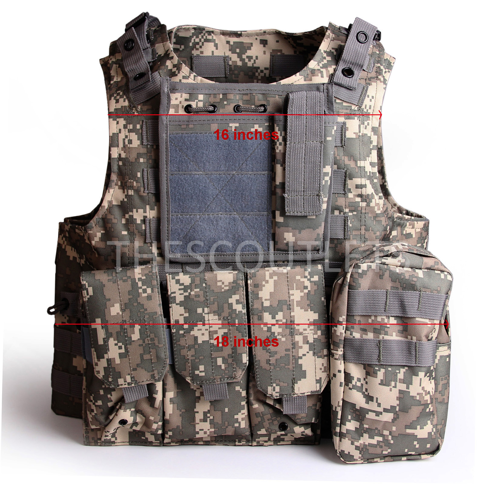 Military-Tactical-Paintball-Army-Molle-Carrier-Adjustable-Airsoft-Combat-Vest thumbnail 11