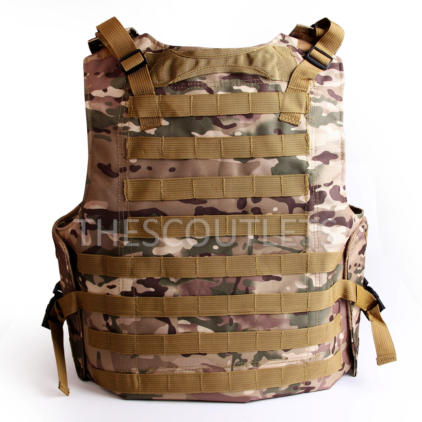 Military-Tactical-Paintball-Army-Molle-Carrier-Adjustable-Airsoft-Combat-Vest thumbnail 13